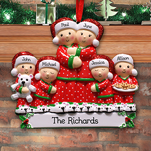 Personalized Pajama Family Ornament
