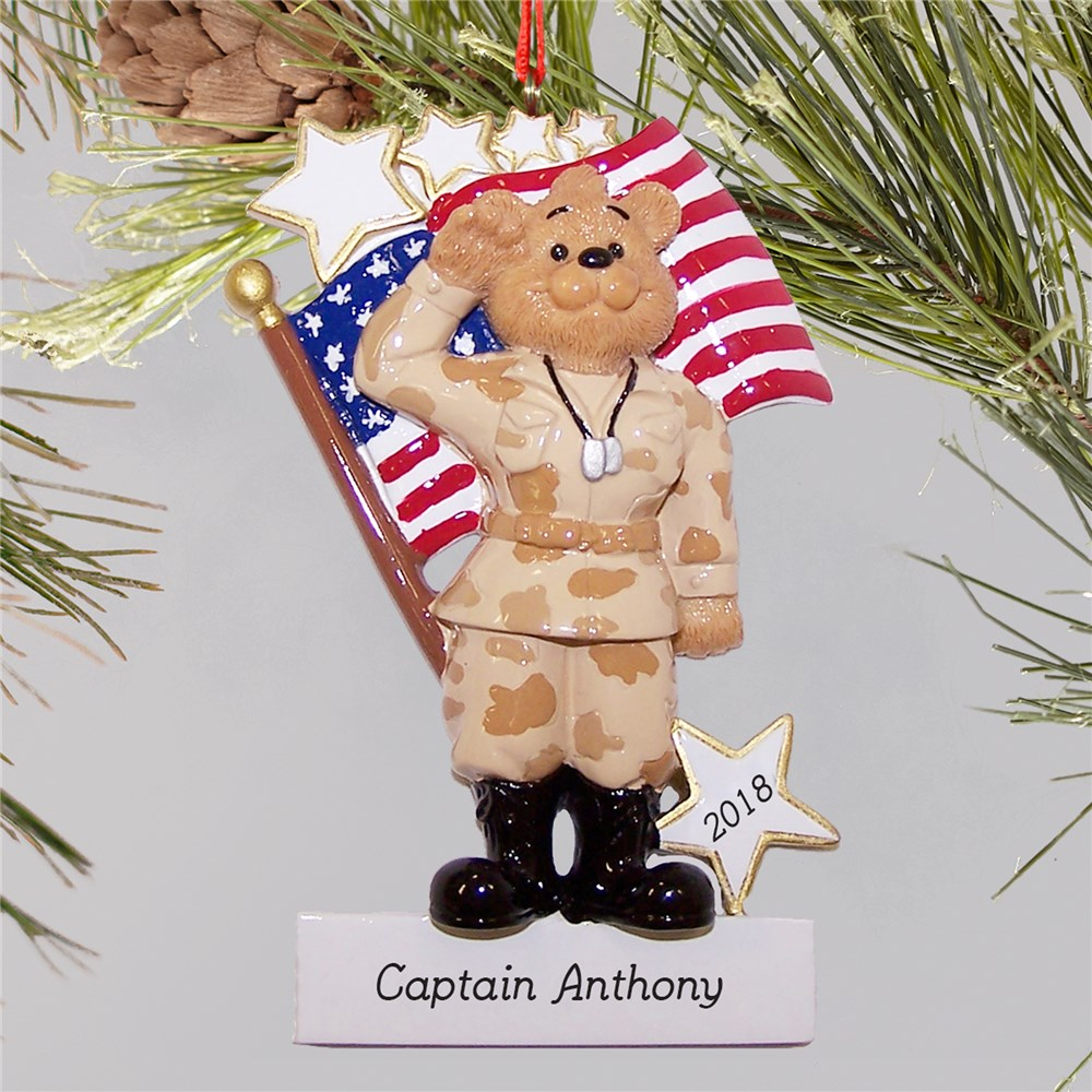U.S. Army Ornament | Personalized Military Christmas Ornaments