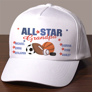 All Star Personalized Hat | Personalized Grandpa Gifts