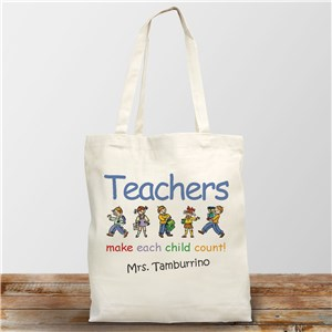 Personalized Teacher Gifts | Teachers Make Kids Count Bag