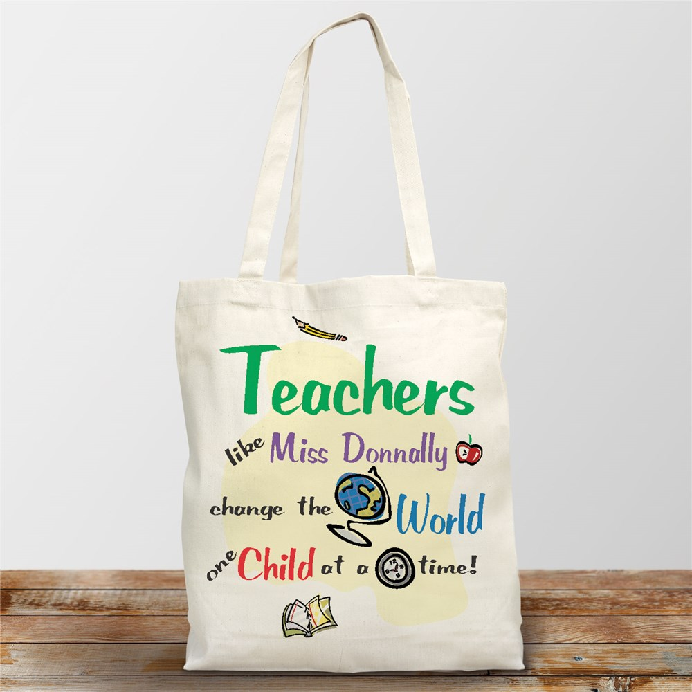 Personalized Gifts For Teachers | Teacher Tote Bag
