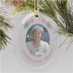 Memorial Glass Personalized Photo Ornament | Memorial Ornaments