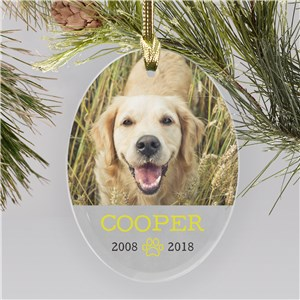 Personalized Pet Photo Memorial Ornament | Pet Memorial Ornaments