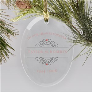 Personalized In Our Hearts Memorial Ornament | Memorial Ornaments