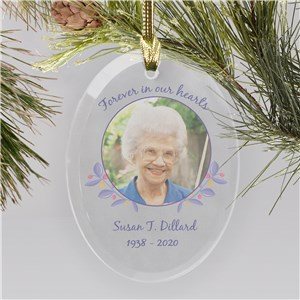 In Our Hearts Forever Custom Memorial Ornament | Personalized Memorial Ornaments