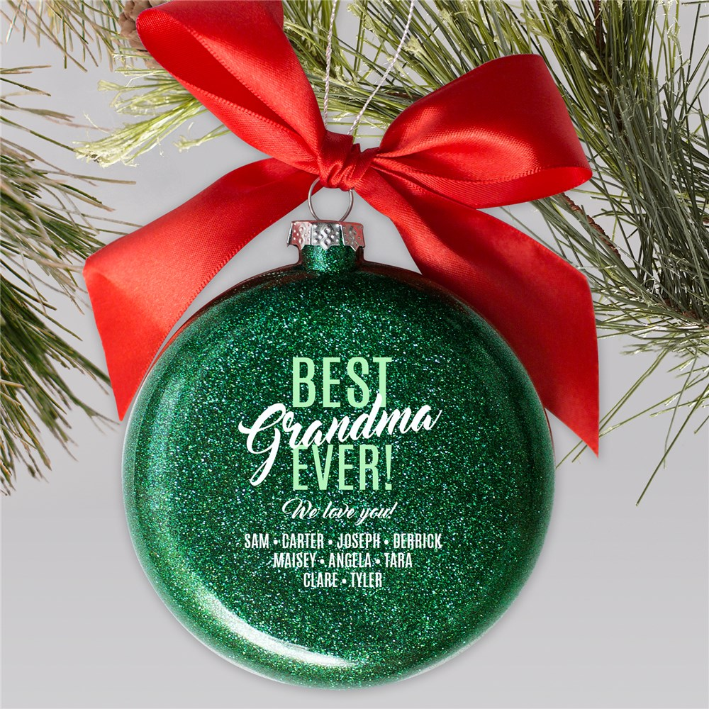 Personalized Best Ever Glass Ornament | Personalized Christmas Ornaments