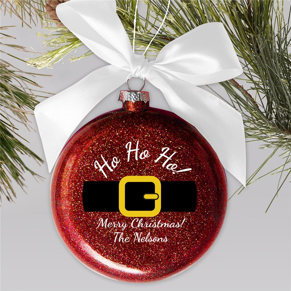 Personalized Ho Ho Ho Glass Ornament | Personalized Christmas Ornaments