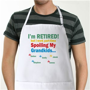 I'm Retired...Spoiling My Grandkids Personalized Apron | Personalized Aprons