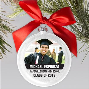 Personalized Photo Graduation Glass Ornament | Personalized Graduation Ornament