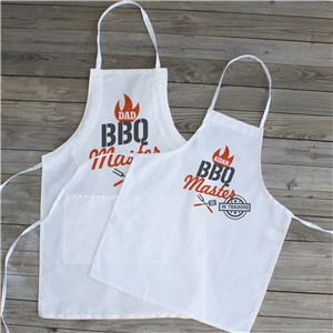 Personalized BBQ Master Apron | Matching Father Son Grill Aprons