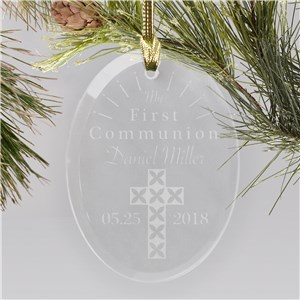 Engraved First Communion Cross Ornament 8129784