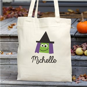 Personalized Halloween Characters Trick Or Treat Tote Bag | Personalized Trick Or Treat Bags