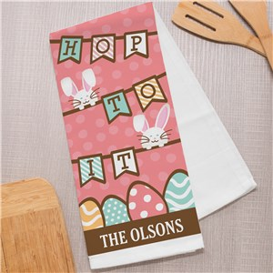 Personalized Tea Towels | Easter Kitchen Towels