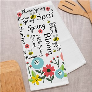 Spring Kitchen Towel | Personalized Spring Kitchen Decor