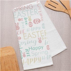 Easter Kitchen Towels | Personalized Easter Decor