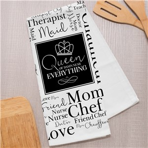 Personalized Dish Towel | Gifts For Mom