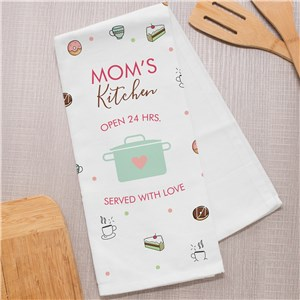 Personalized Dish Towel | Mom's Kitchen Gifts