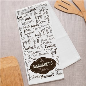 Personalized Label Word Art Dish Towel 8143777