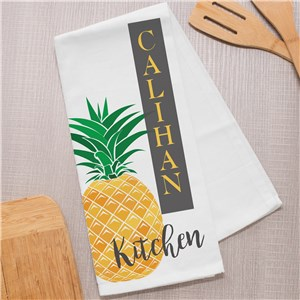 Personalized Pineapple Dish Towel 8145309