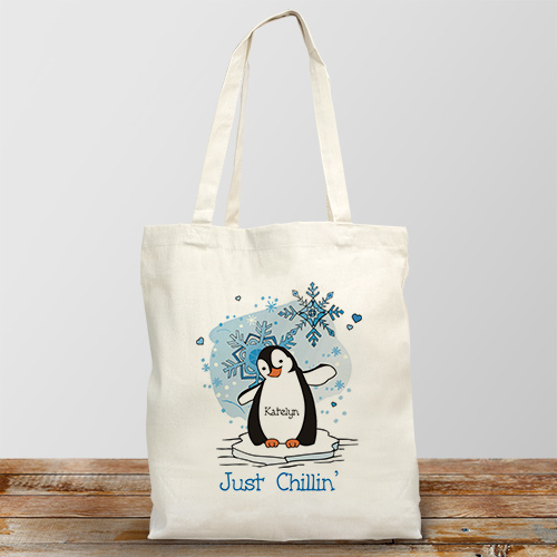 Just Chillin Canvas Personalized Tote Bag
