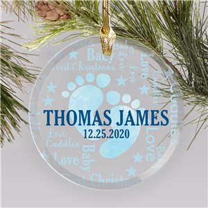 Personalized Baby Ornaments | Baby Feet Christmas Ornaments