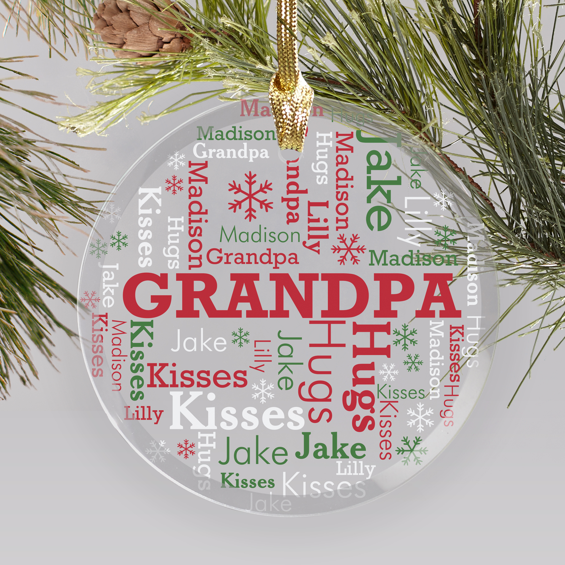 Personalized Any Name Ornaments | Personalized Family Ornaments