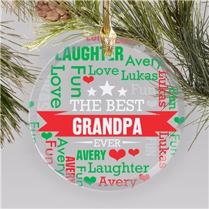 Personalized Grandpa Ornament | Word-Art Gifts For Christmas