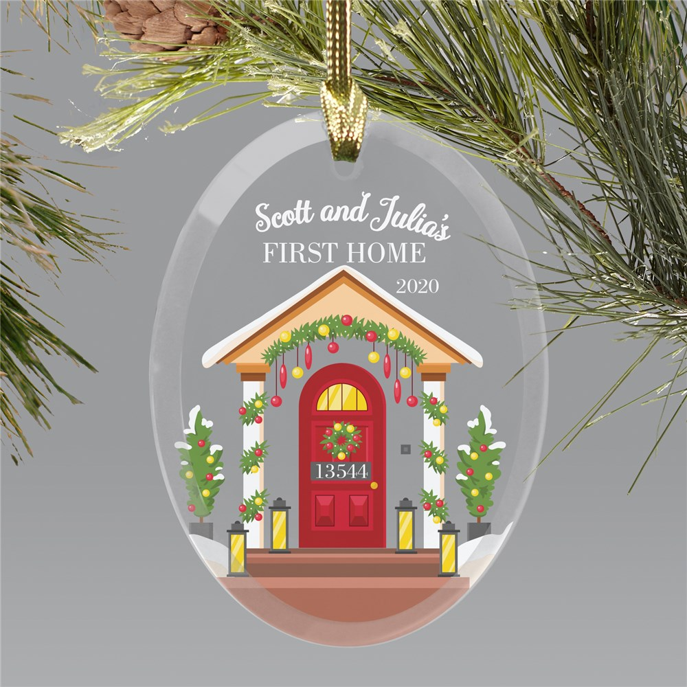 First Home Ornament | Our First Home Personalized Christmas Ornament