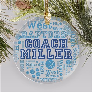 Personalized Coach Ornaments | Christmas Gifts For Coaches