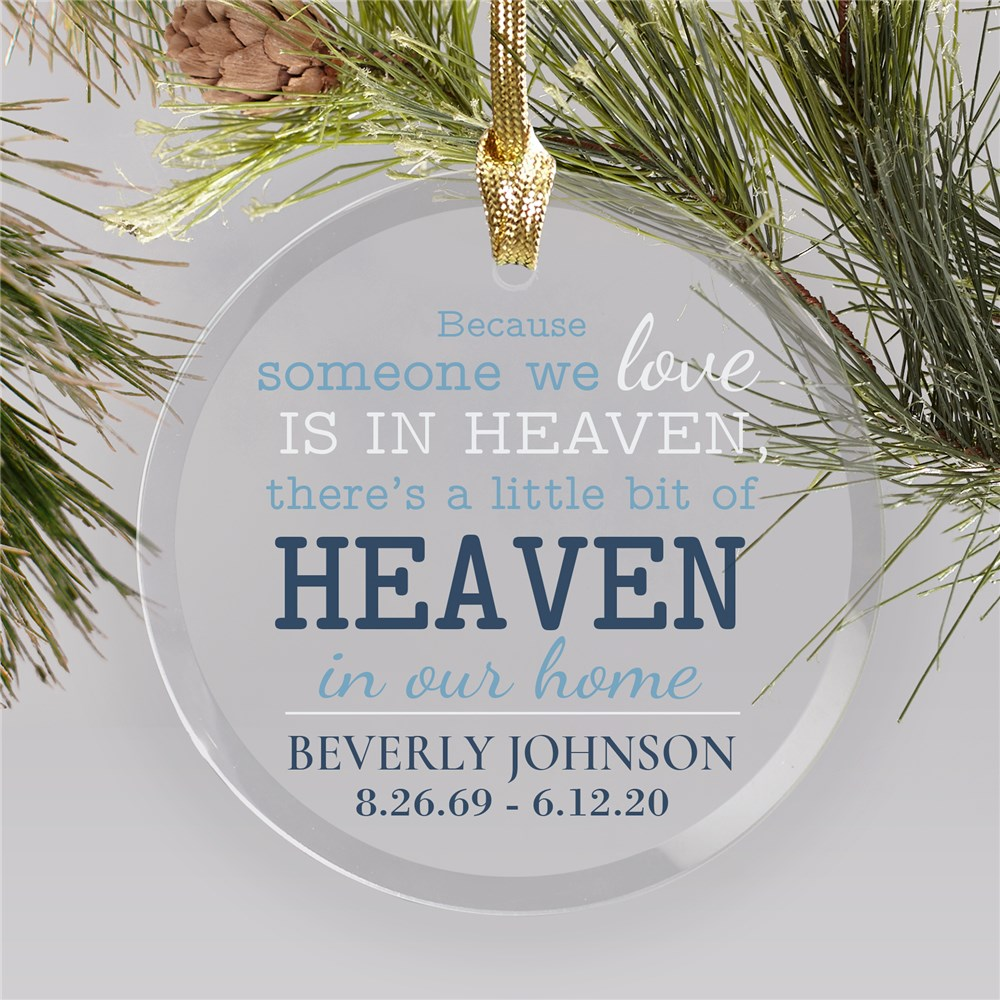 Memorial Glass Ornament | Someone We Love In Heaven Ornament