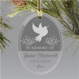 Memorial Ornament | Memory Dove Personalized Ornament