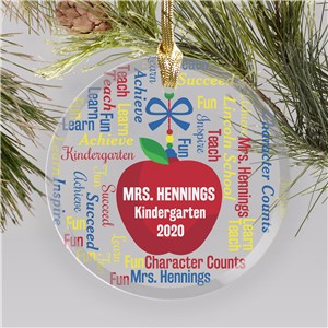 Personalized Teacher Ornaments | Word-Art Ornaments For Teachers