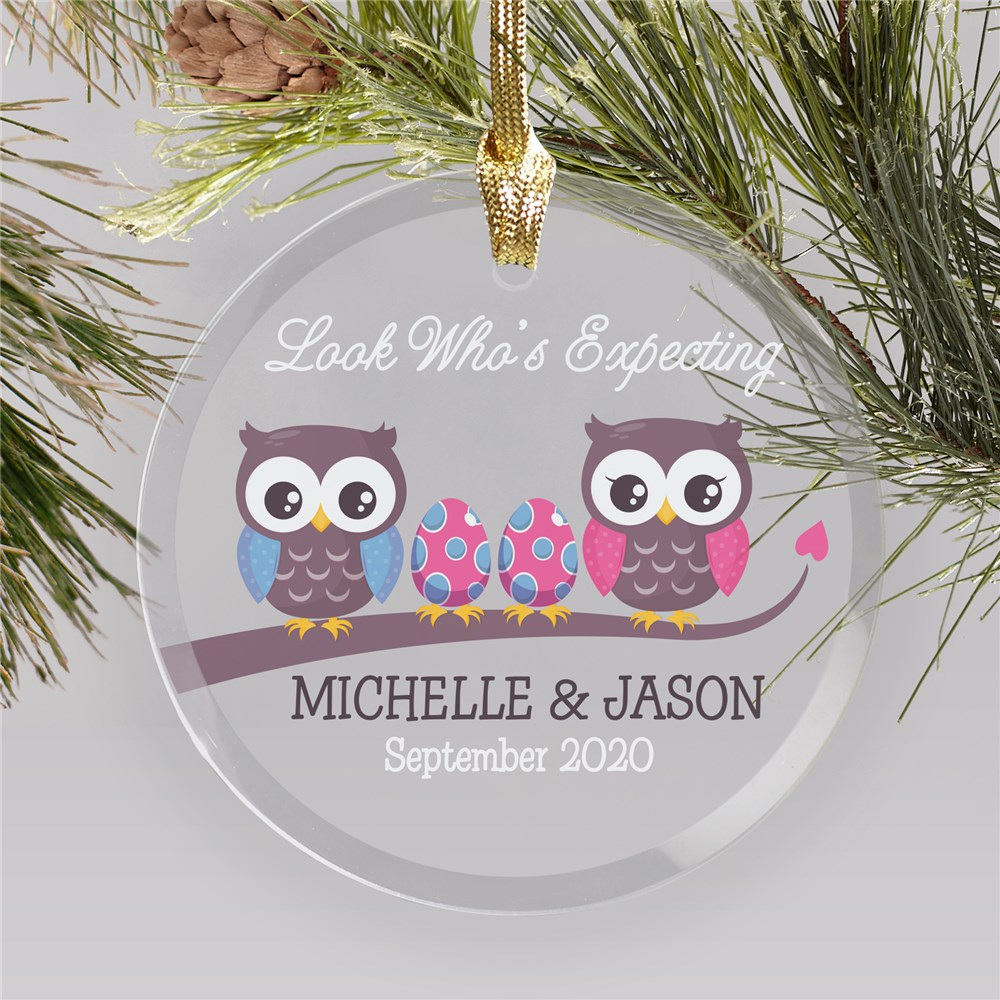 | Personalized Owl Ornament