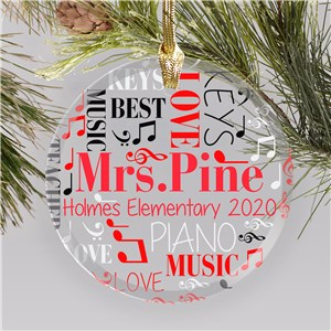 Personalized Teacher Ornaments | Gifts For Music Teachers
