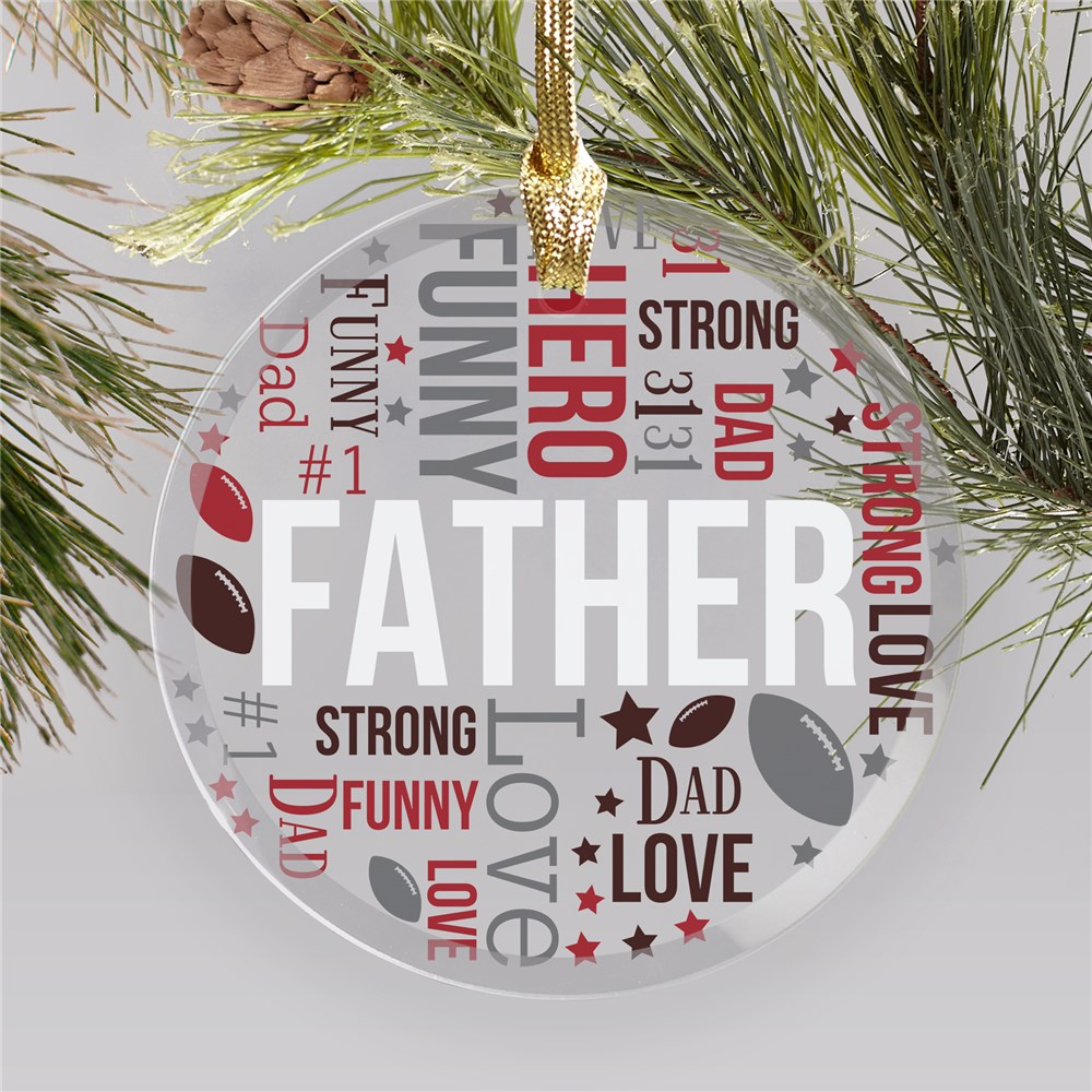 Personalized Word Art Ornaments | Personalized Brother Christmas Ornament