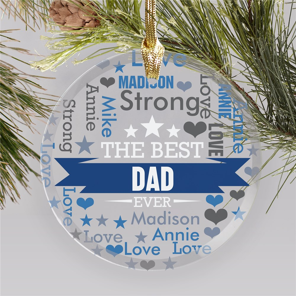 Personalized Dad Ornaments | Creative Ornaments for Dads
