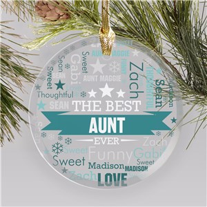 Gifts For Favorite Aunt | Personalized Aunt Ornaments