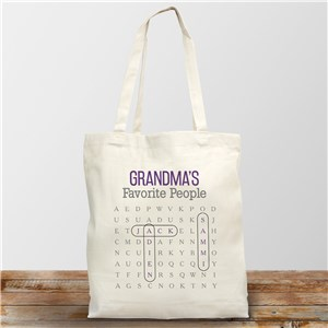 Word Search Canvas Bag | Personalized Re-Usable Bag