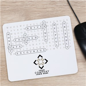 Word Search Mouse Pad | Personalized Company Mouse Pad