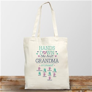Personalized Hands Down the Best Tote Bag 8160912