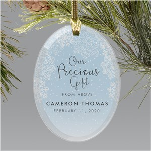 Personalized Precious Gift Oval Glass Ornament 8171714