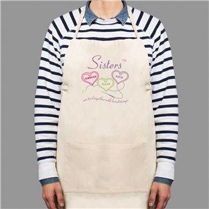 Sisters Heartstrings Personalized Apron | Personalized Aprons