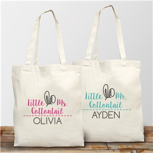 Personalized Little Cottontail Tote Bag