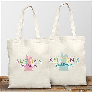 Personalized Colorful My First Easter Tote Bag 8176942