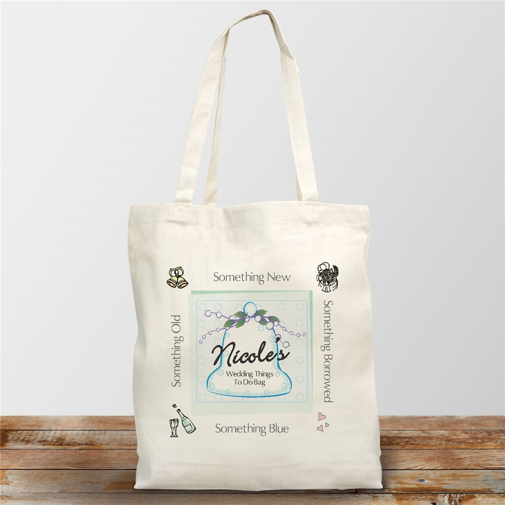 Wedding Things To Do Personalized Bride To Be Canvas Tote Bag