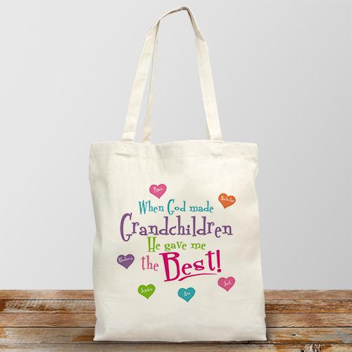 God Gave Me the Best Personalized Canvas Tote Bag