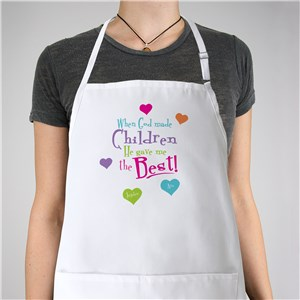 God Gave Me the Best Personalized Apron | Personalized Aprons