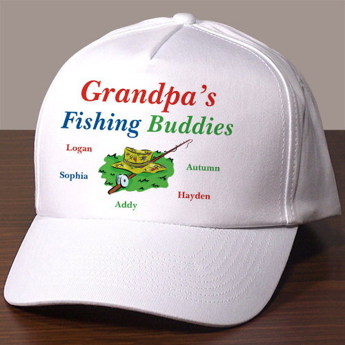 Fishing Buddies Personalized Hat | Personalized Grandpa Gifts