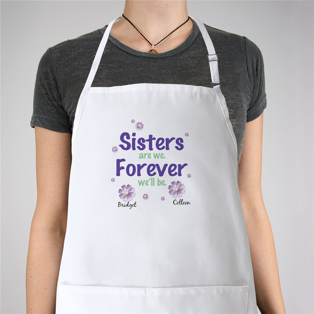 Sisters Forever Personalized Apron | Personalized Aprons
