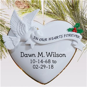 In Our Hearts Forever Memorial Ornament